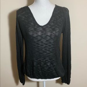 Anthropologie Tulle Knit Top Size S